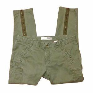 Joe Fresh Utility Zipper Leg Skinny Fit Cargo Jean